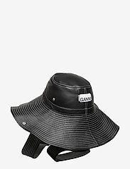 Ganni - Lamb Leather Accessories - hatte - black - 1