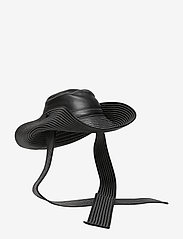 Ganni - Lamb Leather Accessories - hatte - black - 2