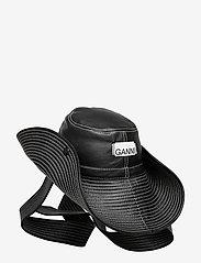 Ganni - Lamb Leather Accessories - hatte - black - 3