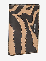 Ganni - Printed Leather Cardkeeper - kaart houders - tannin - 2