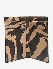 Ganni - Printed Leather Cardkeeper - kaart houders - tannin - 3