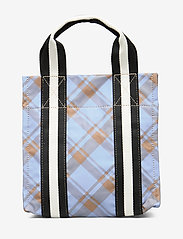 Ganni - Check Print Bags Mini Tote - shopper - tannin - 2