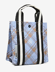 Ganni - Check Print Bags Mini Tote - shopper - tannin - 3