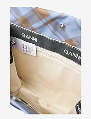 Ganni - Check Print Bags Mini Tote - shopper - tannin - 6