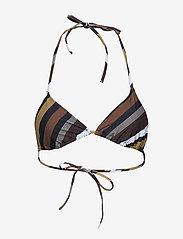 Ganni - Recycled Printed Swimwear - góry strojów kąpielowych - multicolour - 0