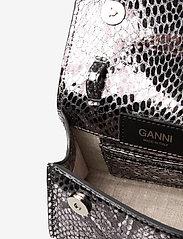 Ganni - Leather - top handle tasker - silver - 3