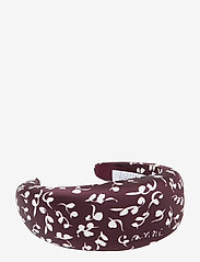 Ganni - Padded Nylon Accessories - hair accessories - decadent chocolate - 0