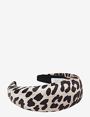 Ganni - Padded Nylon Accessories - hair accessories - leopard - 0