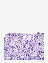 Ganni - Printed Leather - kaart houders - violet tulip - 0