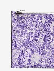 Ganni - Printed Leather - kaart houders - violet tulip - 2