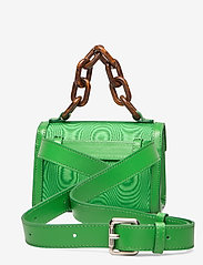 Ganni - Leather - top handle tasker - island green - 2