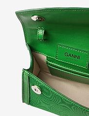 Ganni - Leather - top handle tasker - island green - 4