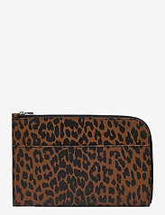 Ganni - Pouch Leather - clutches - toffee - 1