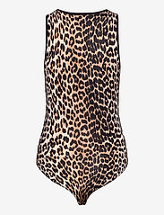 Ganni - Sleeveless Body - body - leopard - 1