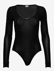 Ganni - LS Bodystocking - bodies & slips - black - 0