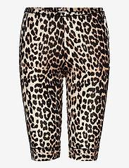 Ganni - Short Leggings - cykelshorts - leopard - 0