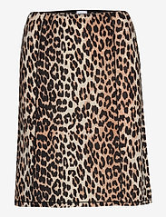 Ganni - Slip Skirt - kort skjørt - leopard - 0