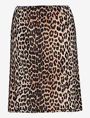 Ganni - Slip Skirt - kort skjørt - leopard - 1