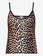Ganni - Slip Top - Överdelar - leopard - 0