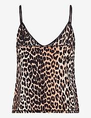 Ganni - Slip Top - Överdelar - leopard - 1