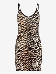 Ganni - Slip Dress - bodies & slips - leopard - 0