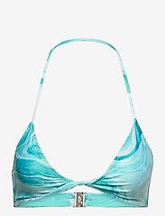 Ganni - Recycled Printed - trekant-bikini - bachelor blue - 0