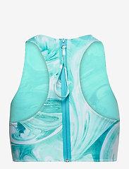 Ganni - Recycled Printed - bikini tops - bachelor blue - 1