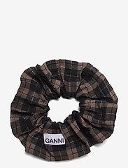 Ganni - Seersucker Check - accessories - fossil - 1