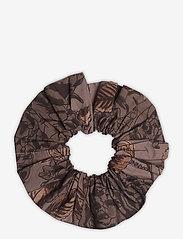 Ganni - Printed Cotton Poplin - scrunchies - fossil - 0