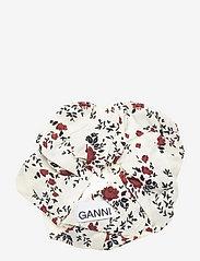Ganni - Printed Crepe - scrunchies - egret - 0