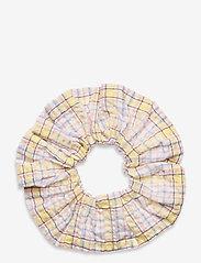 Ganni - Seersucker check - scrunchies - multicolour - 0