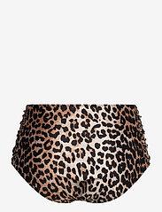 Ganni - Recycled Printed - high waist bikini bottoms  - leopard - 1