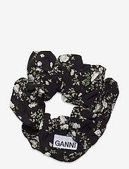 Ganni - Printed Crepe - scrunchies - phantom - 0