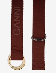 Ganni - Webbing - nyheder - madder brown - 1