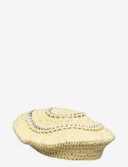Ganni - Cotton Knit - bøllehatte - pale banana - 1