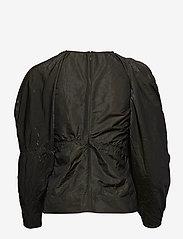 Ganni - Shiny Chino - long sleeved blouses - kalamata - 1