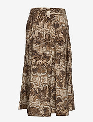 Ganni - Printed Cotton Poplin - maxi nederdele - tiger's eye - 1