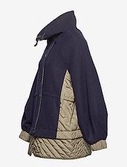 Ganni - Tech/Wool - wełniane kurtki - sky captain - 3