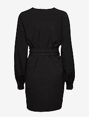 Ganni - Heavy Crepe Dress - korte kjoler - black - 3