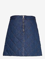 Ganni - Quilted Denim - jeansowe spódnice - denim - 1