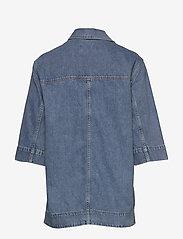 Ganni - Washed Denim - jeansowe koszule - washed indigo - 1