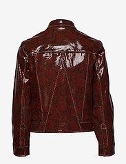 Ganni - Snake Foil Leather - nahkatakit - decadent chocolate - 2