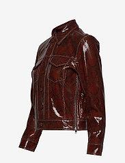Ganni - Snake Foil Leather - nahkatakit - decadent chocolate - 3