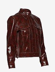 Ganni - Snake Foil Leather - nahkatakit - decadent chocolate - 4