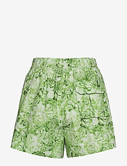 Ganni - Printed Cotton Poplin - casual shorts - island green - 1
