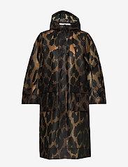 Ganni - Thermoshell - vêtements de pluie - maxi leopard - 0
