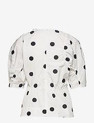 Ganni - Recycled Polyester - short-sleeved blouses - egret - 1