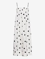 Ganni - Recycled Polyester - midi kjoler - egret - 0