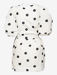 Ganni - Recycled Polyester - korte kjoler - egret - 1