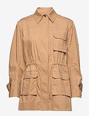 Ganni - Ripstop Cotton Chino - utility-jakker - tannin - 1